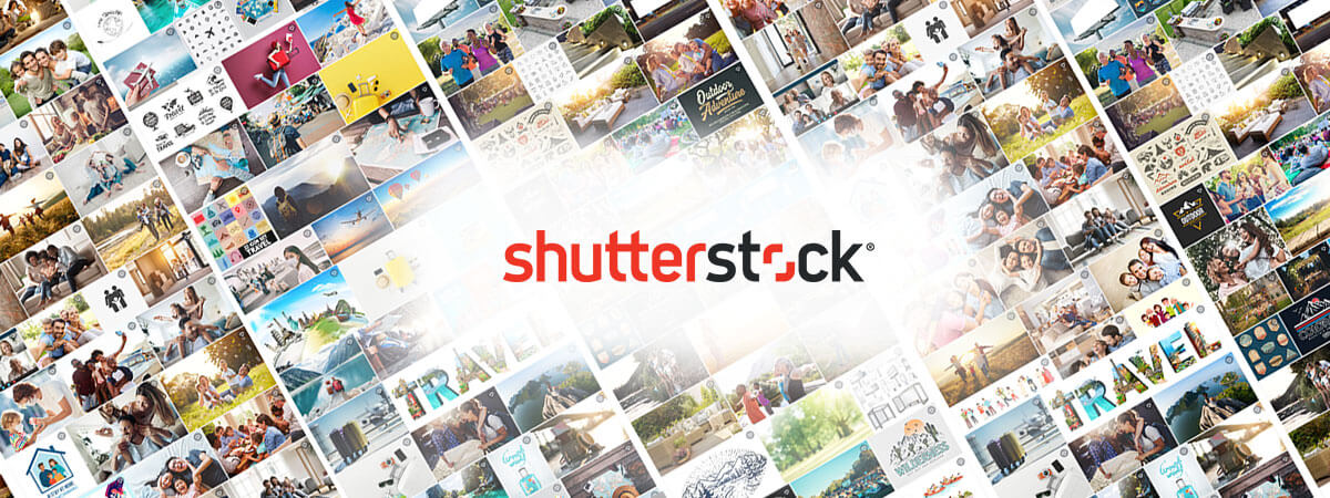 photo composition from shutterstock's image library with a red shutterstock logo on top