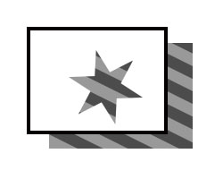 Illustration eines Blattes Papier mit einem sternförmigen Loch