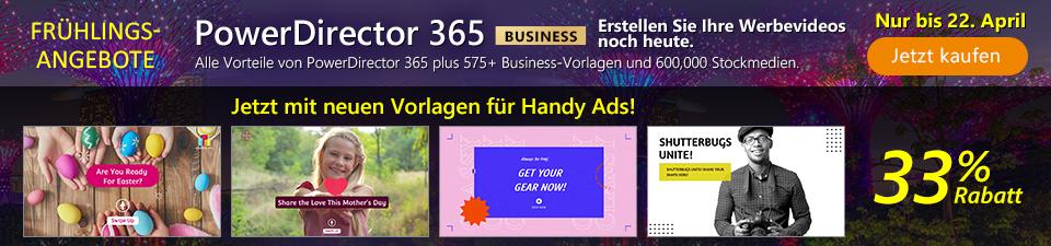 PowerDirector 365 Business - Wirkungsvolle Marketing-Videos für Ihr Business
