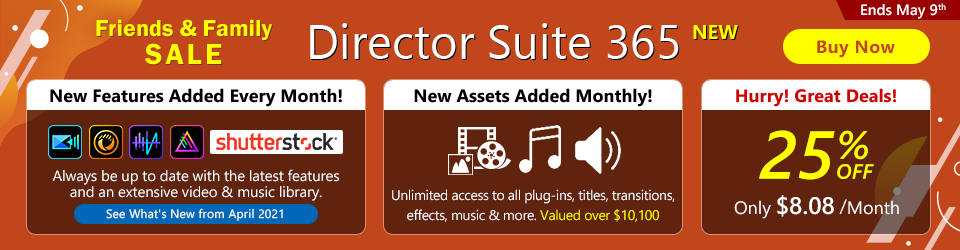 Director Suite 365: Video, Photo & Audio Editing Software for Creative Professionals