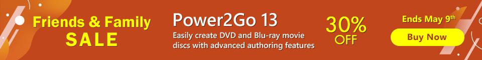 Power2Go: Disc Burning, Authoring & Backup Software