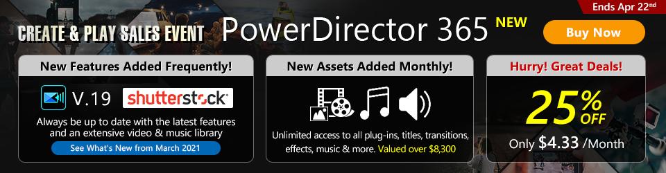 PowerDirector 365: Best video editing software for Windows