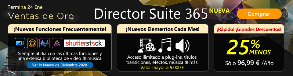 Director Suite 365: Software de Edición de Video, Foto & Audio para Creativos Profesionales
