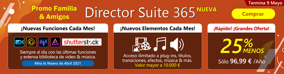 Director Suite 365: Software de Edición de Video, Foto & Audio para Creativos Profesionales