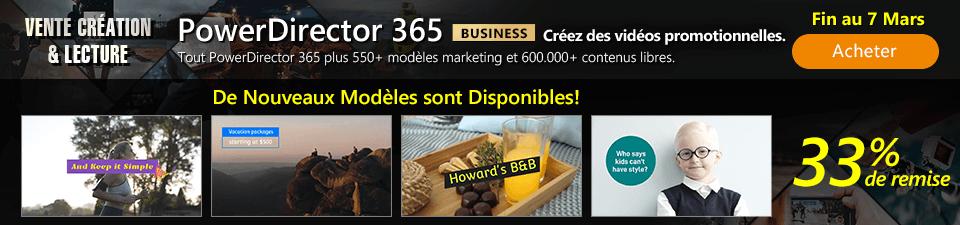 PowerDirector 365 Business - Créez des vidéos publicitaires maintenant!